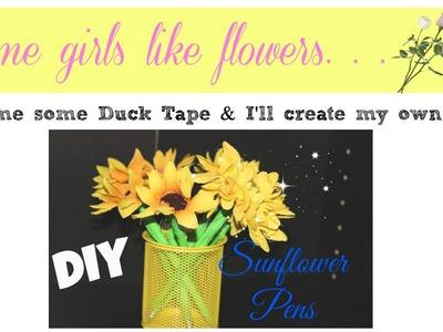 Sunflower Pen Bouquet | 2014 National Craft Month DIY | thecreativelady