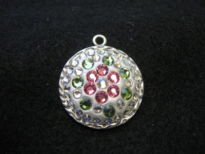 Swarovski Crystals & Jewelry Clay Pendant Craft Tutorial