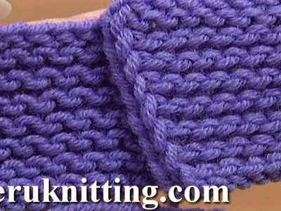 The Garter Stitch Knitting Tutorial 6 Part 4 of 4 Work Purl Rows