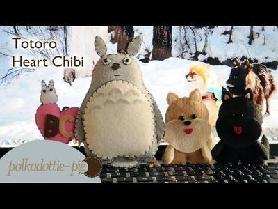 Totoro Heart Chibi - DIY Felt Plush - PolkadottiePie Craft Tutorial