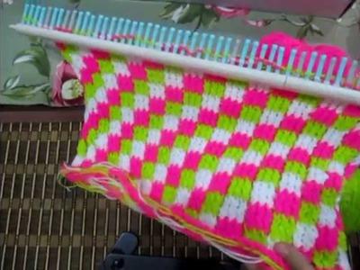 Tutorial cast on dan menukar benang menggunakan knitting loom