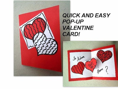 VALENTINE POP UP CARD, easy diy cards