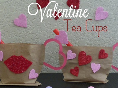Valentines Craft Idea | Valentines DIY | Tea Cup Gift Bag