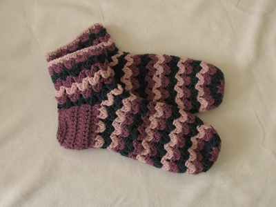 VERY EASY chunky crochet slipper socks tutorial - part 1