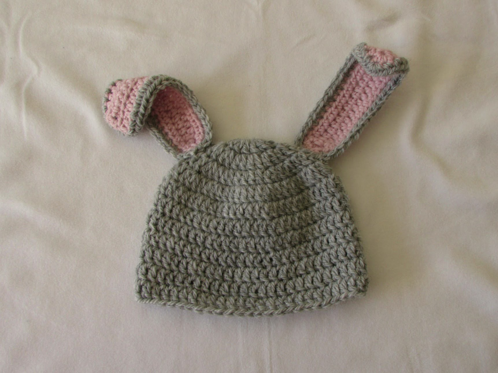 VERY EASY crochet baby. child's bunny hat tutorial - Part 1