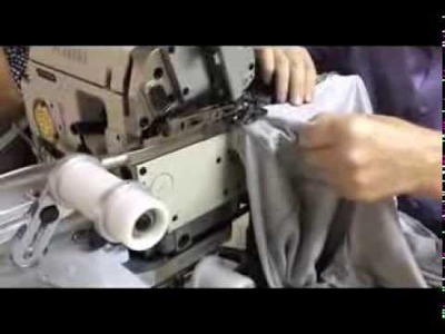 VIDEO-001-Attaching rib knit collar - T-SHIRT SEWING MACHINE