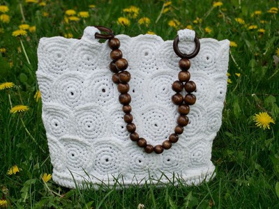 Вязание крючком сумочки - корзинка ч1. Crochet handbag baskets Part 1