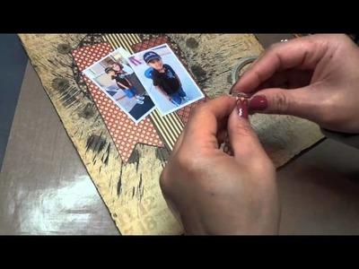 12x12 Grade K Scrapbook Layout and Tutorial