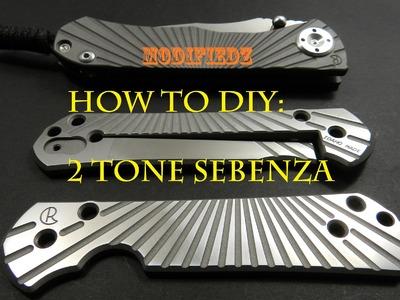 2 Tone Finish Star-Benza Tutorial DIY. Wilson Combat Sebenza