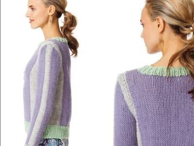 #27 Vertical Stripe Pullover, Vogue Knitting Early Fall 2013