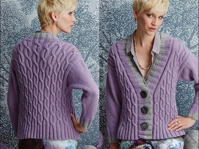 #3 Deep V-Neck Cardigan, Vogue Knitting Fall 2014