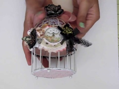 Altered Lyric Bird cage. Discount Paper Crafts DT project