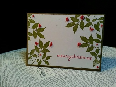 Christmas 2013: French Knots Card Tutorial