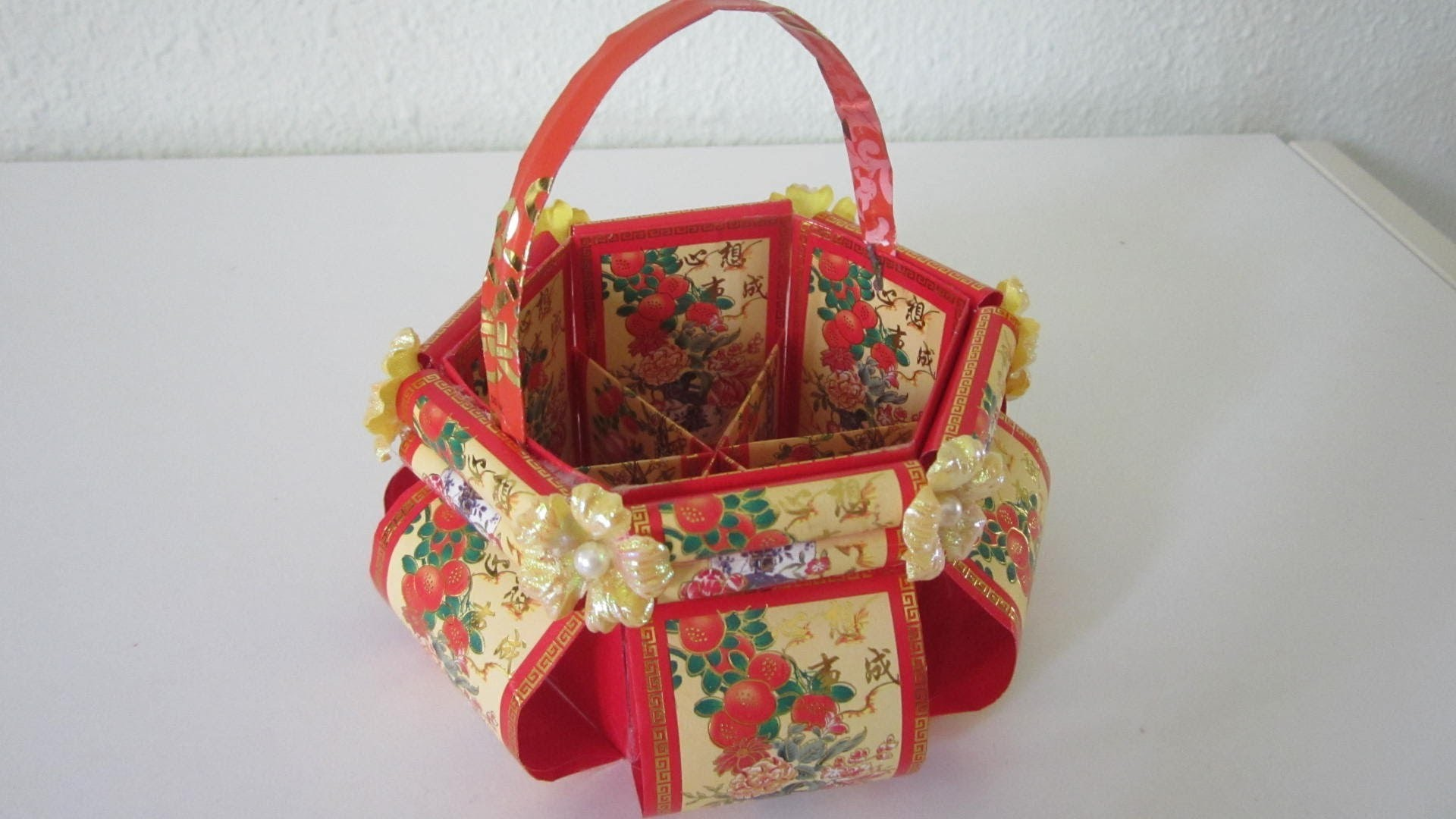 CNY TUTORIAL 5 - Chinese New Year Floral Basket