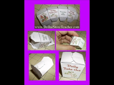 Craft for American Girl Doll Make a doll size Take Out Food Box for your American Girl Doll
