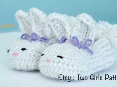 Crochet baby bunny house slippers - Crochet tips