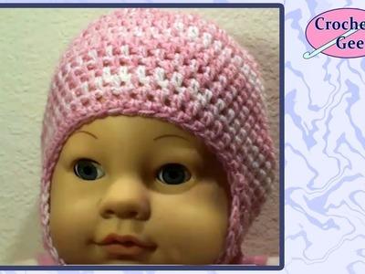 Crochet Baby Cap with Earflaps