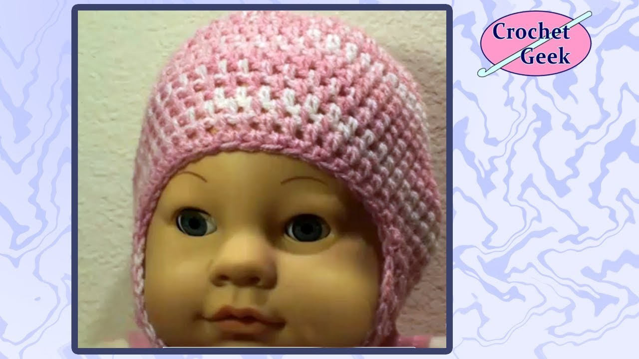 Crochet Baby Cap with Earflaps