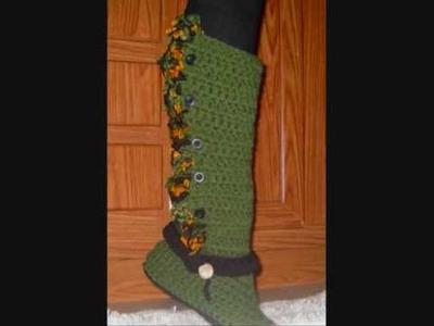 Crochet Boots Holiday Project clip 3