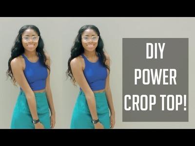 ✂ DIY AA Inspired Power Crop Top! [Sewing] (Super Easy) ✂