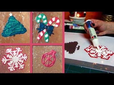 DIY Christmas window decorations