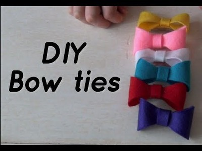 DIY Cute Bow Ties - Hair Accessories