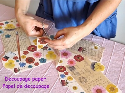 DIY Decorating a Telephone with Decoupage - Decora un teléfono con decoupage.