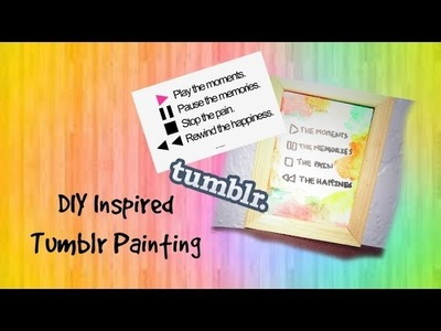 DIY Inspired Tumblr Painting Tutorial | Speed Motion | Wall Decor