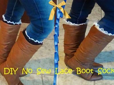 DIY No Sew Lace Boot Socks. Leg Warmers