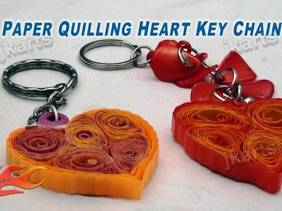 DIY Paper Quilling Heart Keychain JK Arts 164