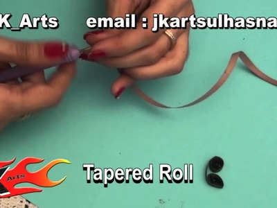 DIY Paper quilling shapes and techniques tutorial - part 5 - JK Arts 062