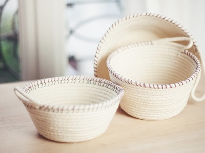 DIY Rope Baskets. DIY Paniers à corde