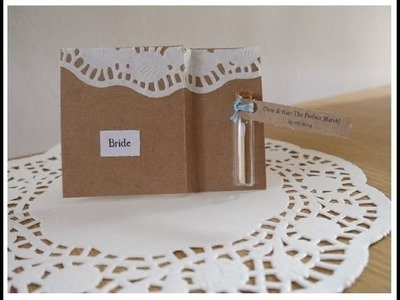 DIY Wedding Rustic Bohemian Place Cards Tutorial