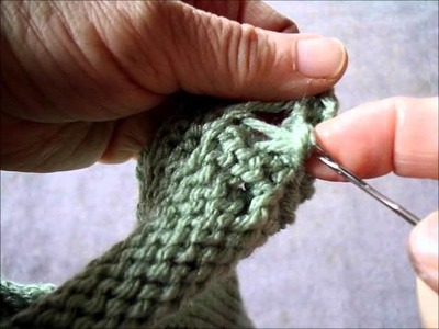 Easy non roll cabled edge for knits