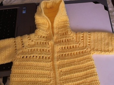 Easy to Crochet Baby Hoodie Sweater - video 3 and final