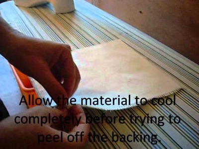 Easy way to stabilize burlap for crafting