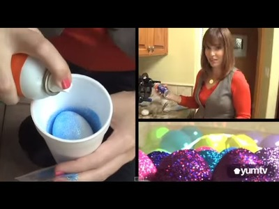 How to Decorate Easter Eggs: DIY Glitter Eggs