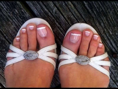 How To: French Pedicure at home!!! from DIY series:)
