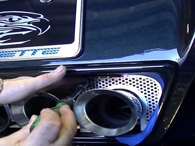 How to Install an American Car Craft C7 Corvette Filler Panel Exhaust