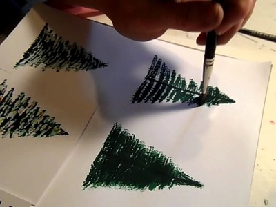 How to Paint a Pine Tree or Christmas Tree