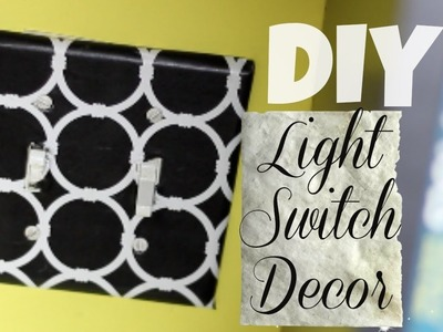 How To Use CONTACT PAPER to decorate a Light Switch | DIY | National Craft Month