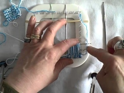 How to weave a tiny square on the Zoom Loom by Noreen Crone Findlay c