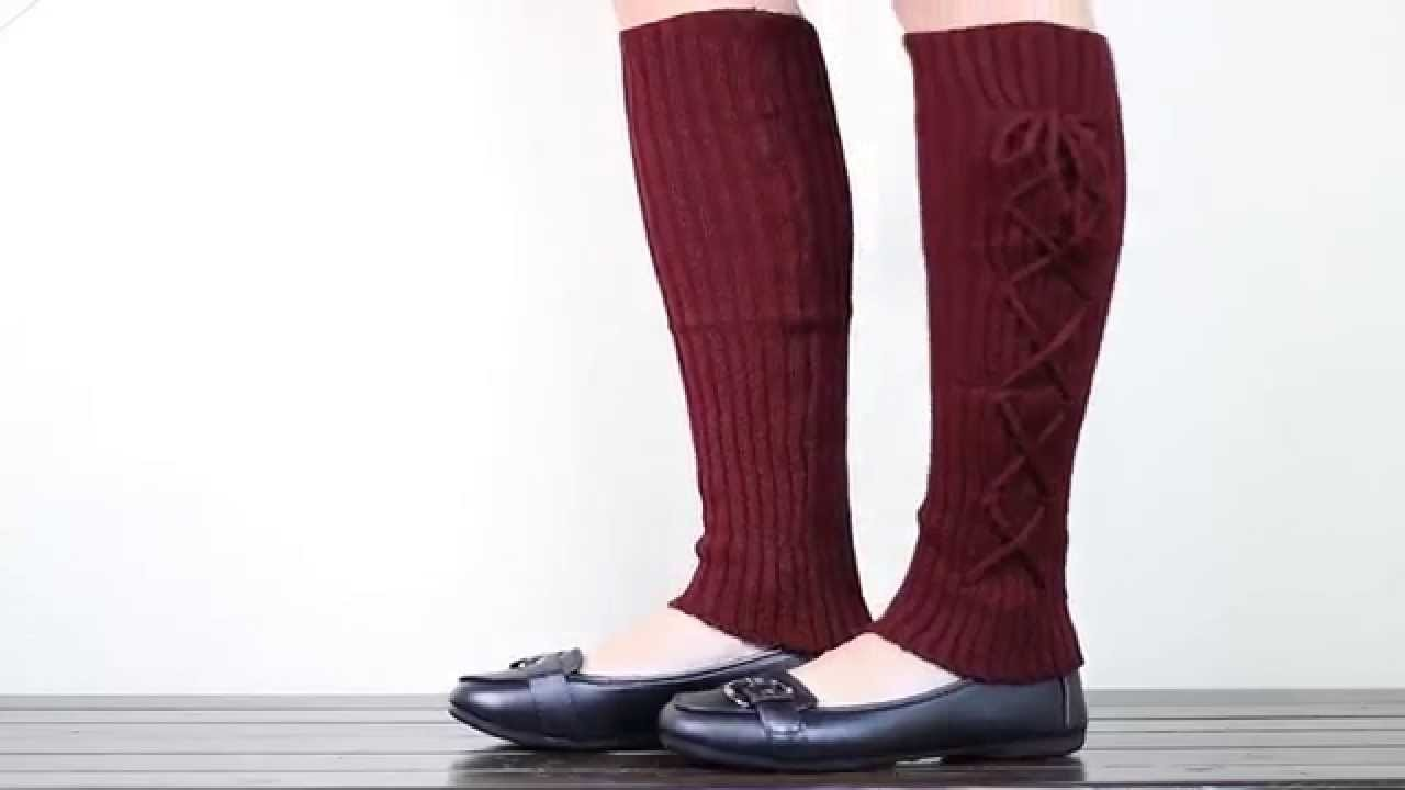 Knitted Leg Warmer Leggings | Boot Covers