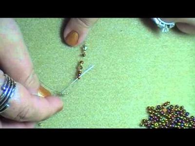 Lacy Spiky Bracelet (Net Stitch)