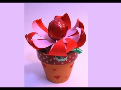 Lollipop Flowers - Valentine's Day (Mother's Day) Gift Ideas for kids