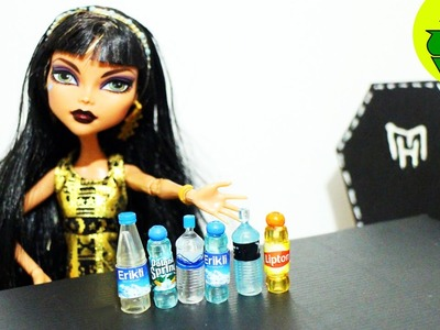 Make Doll Water Bottles- Doll Crafts