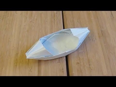 My paper boat that floats on water (origami)