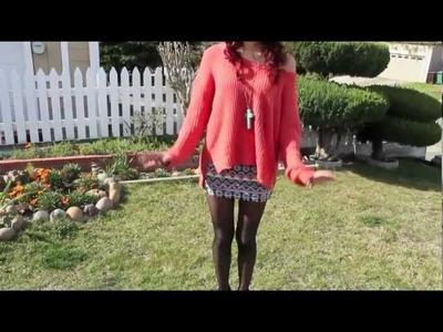 OOTD #2: Knit Sweater & Tribal Skirt