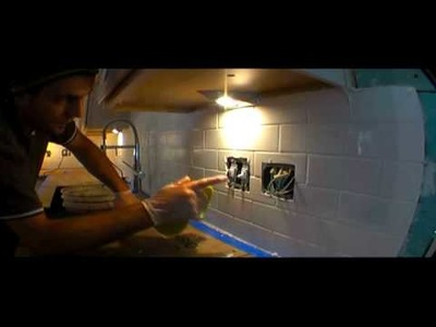 RASTA TILE MAN 2 ( Subway tile  with grout  ) PART TWO DIY