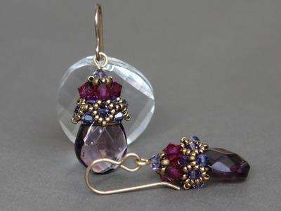 Sidonia's handmade jewelry - Beaded earrings cup